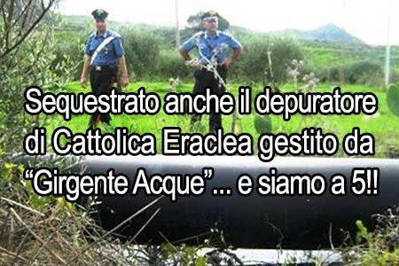 Girgenti Acque: sequestrato anche il depuratore di Cattolica Eraclea