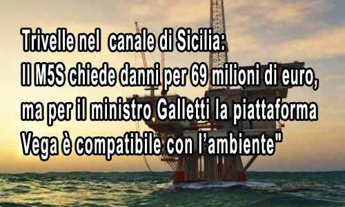 """Trivellazioni. M5S: """"Danni da 69 milioni di euro, ma il ministro Galletti non è d'accordo"""""""