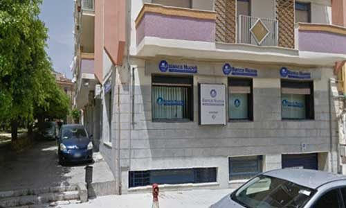 Rapina in banca nel cuore di  Sciacca: 30mila euro il bottino