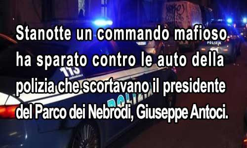 Attentato mafioso: commando apre il fuoco sull'auto del presidente del Parco dei Nebrodi.