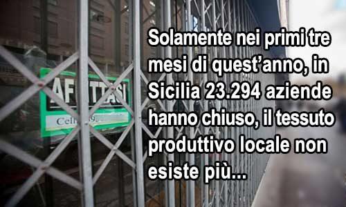 É un dato di fatto: in Sicilia fare impresa è impossibile