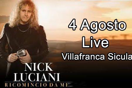 Nick Luciani,  voce storica dei Cugini di campagna a Villafranca Sicula il 4 agosto
