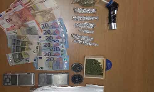 21enne arrestato: deteneva 32 grammi di Marijuana
