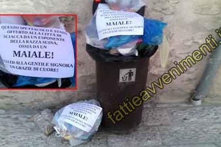 Il senso civico saccense sui rifiuti: ecco come reagiscono i cittadini