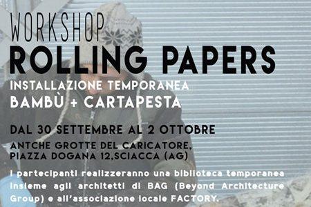 Dal 30 settembre alle Antiche Grotte del Caricatore il Workshop Rollig Papers