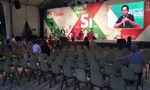 Catania. Festa dell'Unità: tra sedie vuote e D'Alema che dice NO alla riforma costituzionale – VIDEO