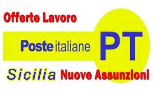 Poste Italiane: nuove assunzioni  anche in tutta la Sicilia