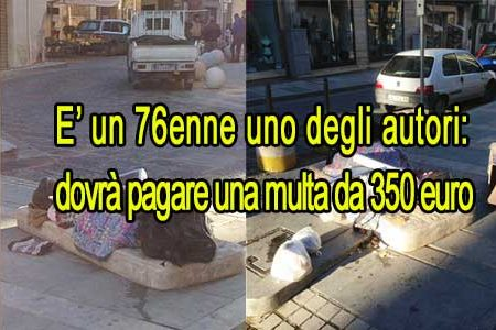 """Notificata la prima multa di 350euro, al """"signore"""" che ha abbandonato i rifiuti alla Chiazza"""