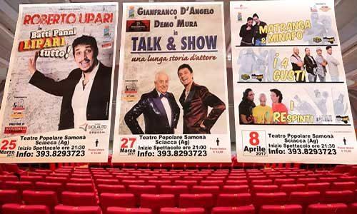 Festa Mondiale del Teatro, evento il 27 marzo al Samonà: Gianfranco D'Angelo e Demo Mura del Bagaglino