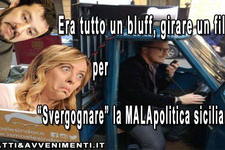"""Comunali Palermo. Il candidato con l'Ape Piaggio? """"La Verdera era solo un bluff per fare un film"""", Salvini e Meloni sul piede di guerra"""