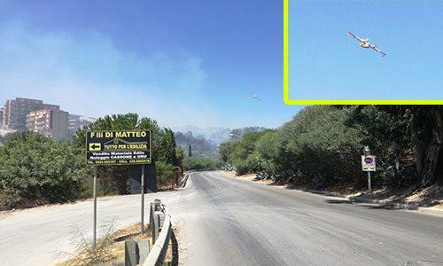"""Il fuoco minaccia Sciacca: """"E' un inferno, fumo ovunque, quartieri evacuati"""""""