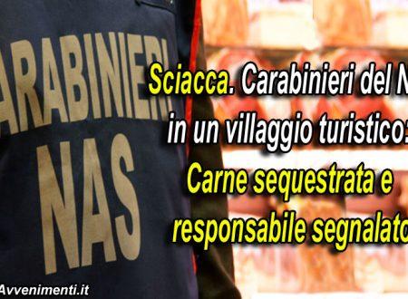 Sciacca, notissimo villaggio turistico: Carabinieri sequestrano 47 kg di carni mal conservate, segnalato M.A. alla Magistratura