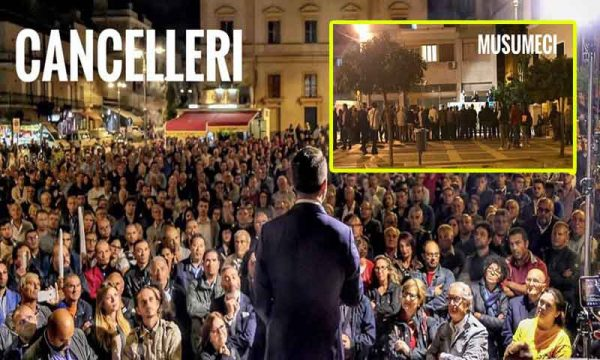 """Ribera. M5S Cancelleri a Musumeci: """"I nostri veri sondaggi sono le piazze piene"""" e qualcuno trema"""