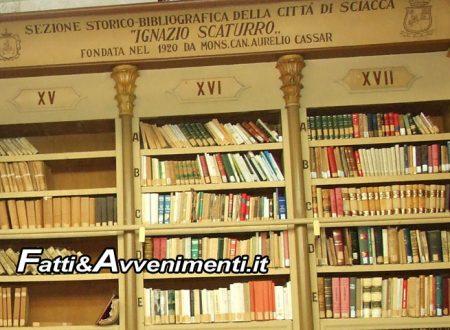 "Sciacca. ""Diamo voce ai libri"": iniziativa nella biblioteca storica ""Aurelio Cassar"""