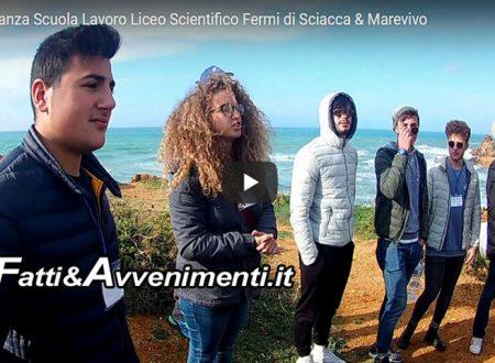 Sciacca. Alunni dell'E.Fermi con MareVivo educatori ambientali a Capo San Marco