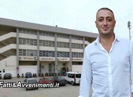 """Milioti all'amministrazione: il 15 dicembre scade  bando""""Sport e periferie"""", presentate un progetto per lo stadio"""