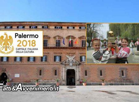 Conferenza stampa per il via ufficiale degli eventi di Palermo, Capitale della Cultura 2018. La Fijet ha assegnato l'Oscar del Turismo