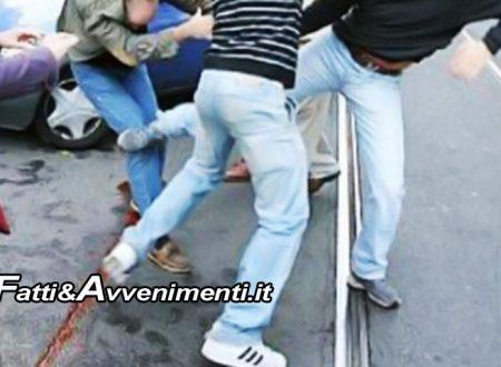 Lite per un parcheggio finisce in rissa tra famiglie con coltelli alla mano: 5 arresti