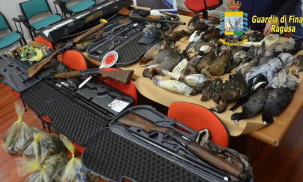 12 cacciatori di frodo fermati dalla Finanza: erano in partenza per Malta con armi e selvaggina uccisa