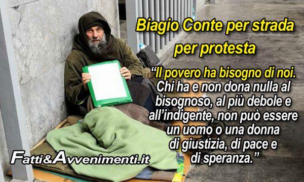 """Biagio Conte dorme per strada e sta male: """"Protesto per poveri e senzatetto"""""""