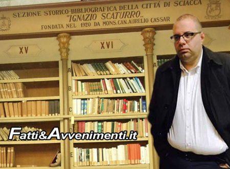 """Sciacca, Biblioteca comunale. Note all'esterno del Municipio, Monte: """"Non ho mai criticato professionalità di nessuno"""""""