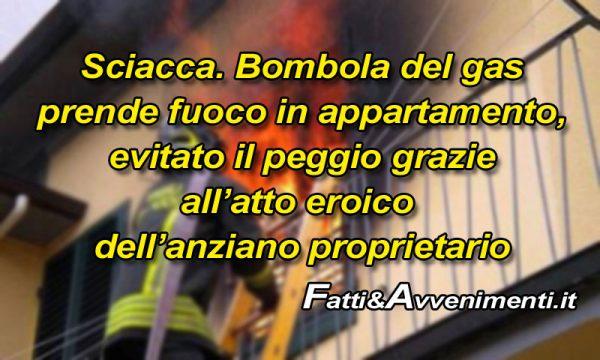 """Sciacca, rischiata tragedia: Bombola del gas prende fuoco a casa di un anziano in via Ruffini, Vigili: """"Atto eroico ha evitato il peggio"""""""