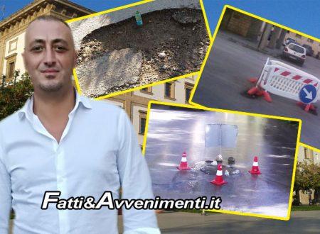 """Sciacca, manutenzione strade. Milioti contro sindaco Valenti:""""Luna di miele finita, i cittadini vogliono risultati"""""""