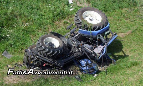 Cammarata (AG). Si schianta con il trattore su un albero: muore un anziano, forse un malore la causa del'incidente