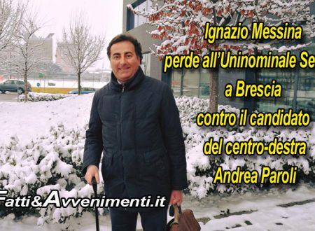 """Ignazio Messina """"rimane di ghiaccio"""" a Brescia: doppiato all'uninominale contro Adriano Paroli"""
