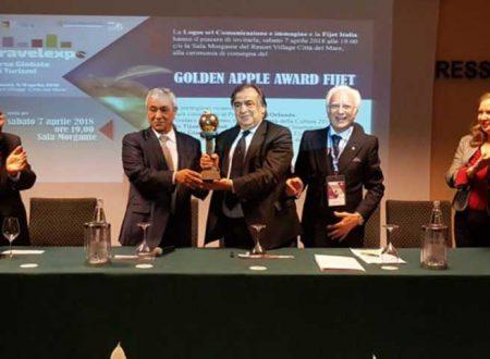 Palermo Capitale della Cultura 2018 premiata con il 'Golden Apple Award Fijet' a Travelexpo – Borsa Globale dei Turismi