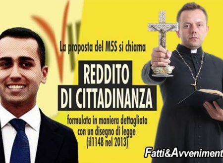 """Chiesa Diocesi di Palermo contro il Reddito di cittadinanza.: """"Al Sud vogliono stipendi senza lavorare"""""""
