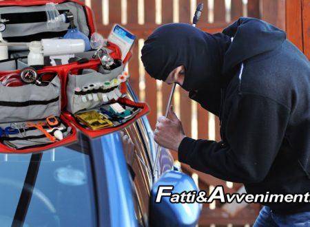 Arrestato il ladro dei medici. Rubava nelle auto le borse da medico e di pronto soccorso