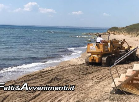 Sciacca. Pulite spiagge Foggia e San Marco, scerbatura e disinfestazione già cominciate – FOTO