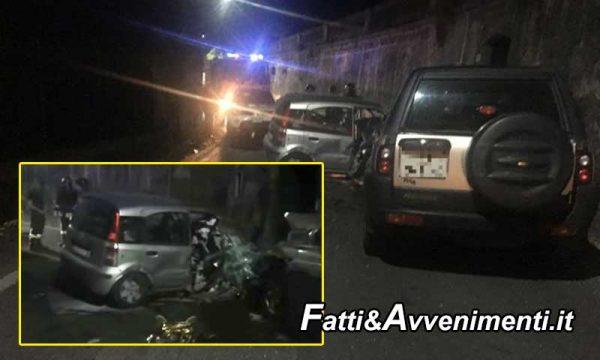 Terrificante frontale tra Panda e Land Rover: muore 29enne  rimasto intrappolato nelle lamiere
