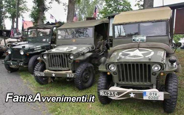 Partirà domani da Sciacca il tour agrigentino dei mezzi militari della Seconda guerra mondiale