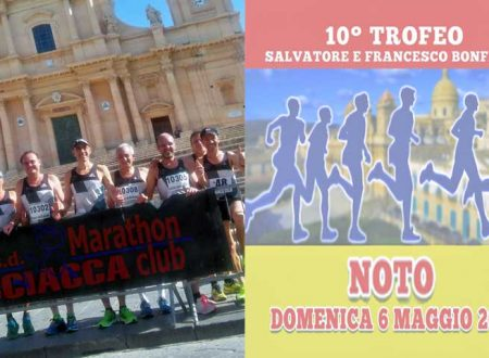 Gli atleti della asd Marathon Club Sciacca protagonisti  a Noto e a Terrasini  nei circuiti di corsa su strada regionale – FOTO