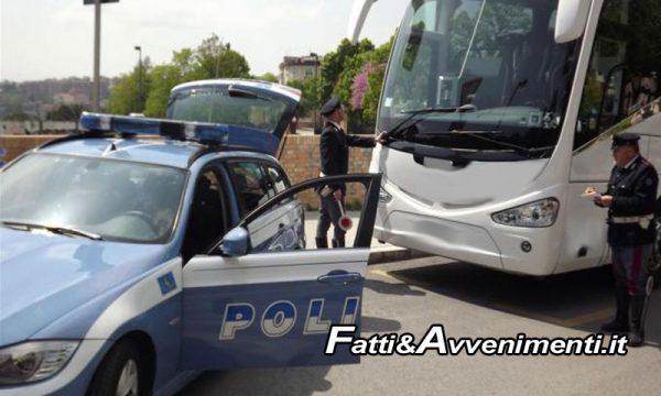 Polizia sequestra pullman con bambini in gita scolastica a bordo: restano a piedi e li riporta a scuola un pullman sostitutivo