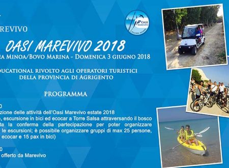 Marevivo. 3 giugno  presentazione attività estiva stagione Oasi di Eraclea Minoa e Bovo Marina