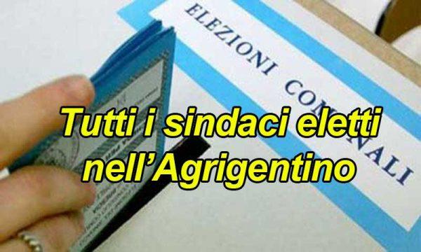 Ieri si è votato in 15 Comuni dell'Agrigentino: ecco tutti i sindaci eletti con voti e percentuale