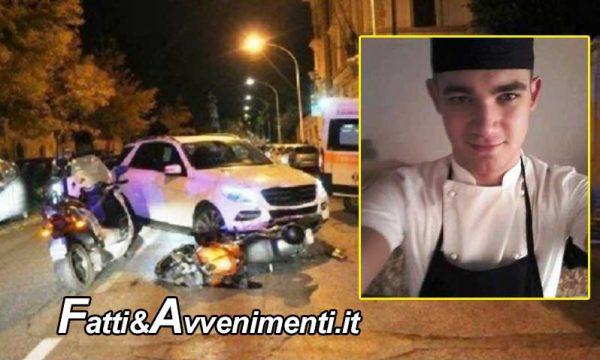 Cuoco 22enne di Ribera muore in incidente stradale a Firenze