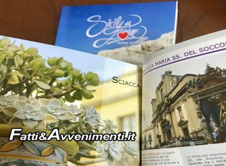 """Sciacca nell'opuscolo """"Sicily my love"""" insieme ad Agrigento, Ribera, Caltabellotta, Licata e località costiere"""