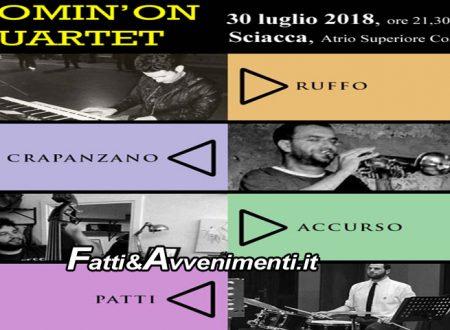 Sciacca. Estate Saccense 2018: Jazz nell'Atrio Superiore del Comune con i Comin'On Quartet