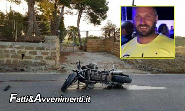 Agrigento. 37enne si schianta con la moto contro un muretto e muore sul colpo