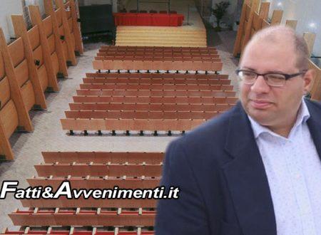 "Sciacca, Teatro. Atrio inferiore, Fazello e Samonà chiusi, Monte: ""Indispensabile l'auditorium San Francesco"""