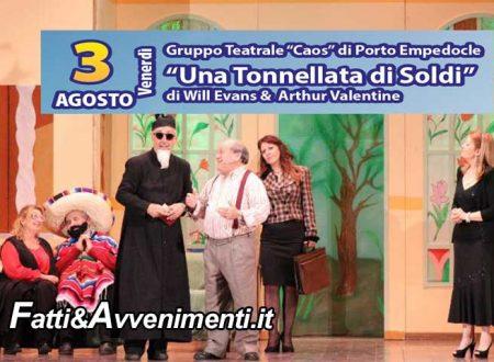 """Seccagrande Ribera. Stasera 2° appuntamento Rassegna Teatrale: """"Una Tonnellata di Soldi"""""""