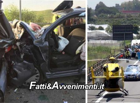 Grave incidente sulla Palermo Mazara: sei feriti tra cui 3 bambini estratti dalle lamiere dai pompieri
