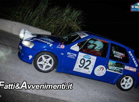 15° Rally del Tirreno. Buona affermazione della  Nebrosport che vince nella classe  RS 1.6