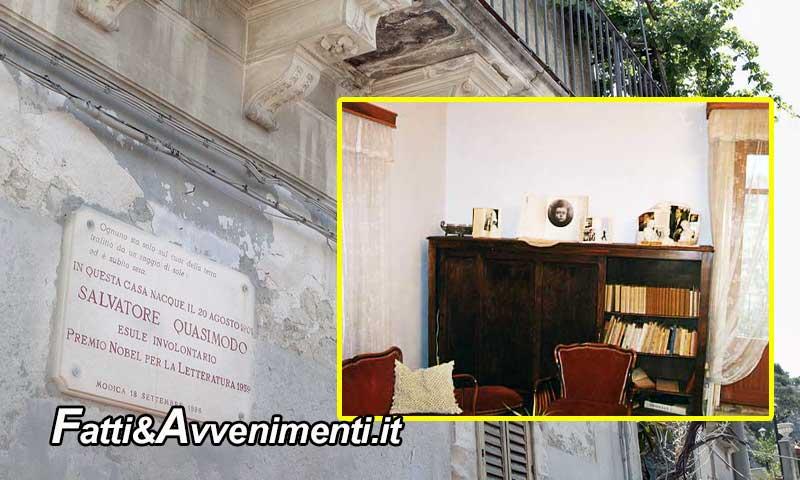 Sottraggono 2 libri in casa museo Quasimodo, denunciata coppia turisti