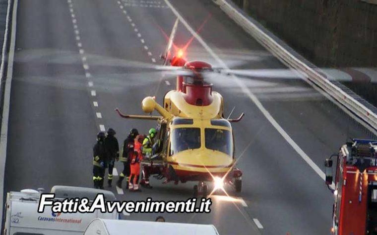 Gravissimo incidente nel cantiere della A19: Operaio 24enne schiacciato da lastra di cemento