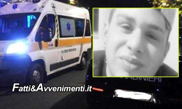 Scontro mortale tra uno scooter e un'auto: perde la vita un 18enne